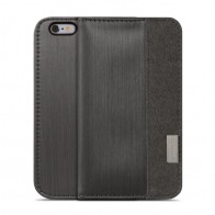 Moshi Overture Wallet Case iPhone 6 Plus Steel Black - 1