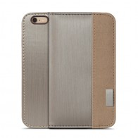 Moshi Overture Wallet Case iPhone 6 Plus Brushed Titanium - 1