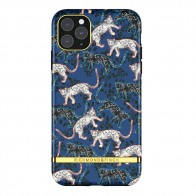Richmond & Finch iPhone 12 / 12 Pro 6.1 inch Hoesje Blue Leopard - 1