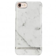 Richmond & Finch - Marble Glossy iPhone 7 White Silver 01