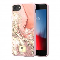 Richmond & Finch RF Series TPU iPhone 8/7/6S/6 Pink Marble Gold - 1