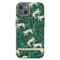 Richmond & Finch Trendy iPhone 13 Pro Hoesje Green Leopard 01