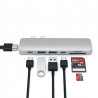 Satechi USB-C Pro Hub Adapter Zilver - 1