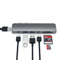 Satechi USB-C Pro Hub Adapter Space Grey - 1