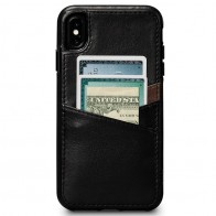 Sena Deen Lugano Wallet iPhone XS Max Hoesje Zwart 01