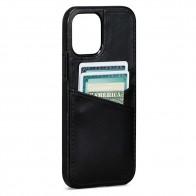 Sena Lugano Wallet iPhone 12 Mini Zwart - 1