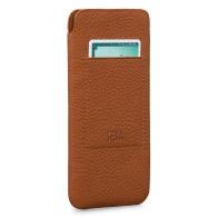 Sena UltraSlim Wallet Sleeve iPhone 13 Pro Max Hoesje Bruin 01