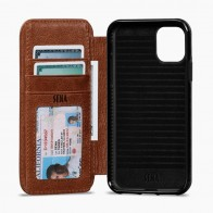 Sena Wallet Book iPhone 11 Bruin - 1