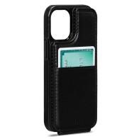 Sena Wallet Skin iPhone 13 Mini Hoesje met Pashouder Zwart 01