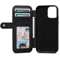 Sena Wallet Book Classic iPhone 12 Mini Zwart - 1