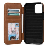 Sena Wallet Book iPhone 13 / 13 Pro Bruin 01