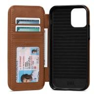 Sena WalletBook iPhone 13 Pro Max Hoesje Bruin 01