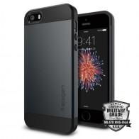 Spigen Slim Armor Case iPhone SE / 5S / 5 Metal Slate - 4
