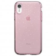 Speck Presidio Clear Glitter iPhone XR Hoesje Roze Goud Glitters 01