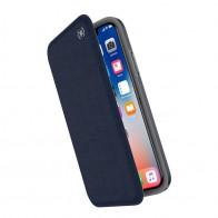 Speck Presidio Folio iPhone X/XS Hoesje Blauw - 1
