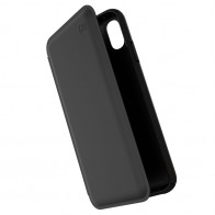 Speck Presidio Leather Folio iPhone XS Max Case Zwart 01