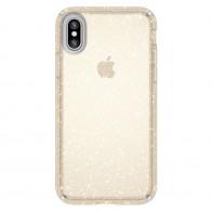 Speck Presidio Clear Glitter iPhone X/XS Hoesje Goud - 1