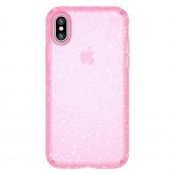 Speck Presidio Clear Glitter iPhone X/XS Hoesje Roze - 1