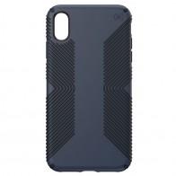 Speck Presidio Grip iPhone XS Max Hoesje Blauw/Zwart 01