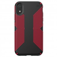 Speck Presidio Grip Case iPhone XR Rood Zwart 01