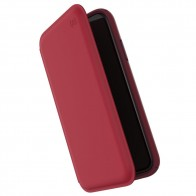 Speck Presidio Leather Folio iPhone XR Hoesje Rood 01