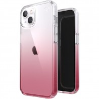 Speck Presidio Perfect Clear Ombre iPhone 13 Hoesje Roze/Transparant 01
