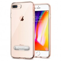 Spigen Crystal Hybrid iPhone 8 Plus/7 Plus Hoesje Roze Clear 01