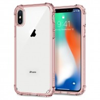 Spigen Crystal Shell iPhone X/Xs Hoesje Transparant/Roze - 1
