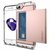 Spigen Crystal Wallet iPhone 8/7 Hoesje Rose Goud - 1