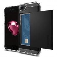 Spigen Crystal Wallet iPhone 8/7 Hoesje Zwart - 1