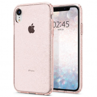 Spigen Liquid Crystal Case Glitter iPhone XR Roze 01