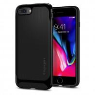 Spigen Neo Hybrid Herringbone iPhone 8 Plus/7 Plus Hoogglans Zwart - 1