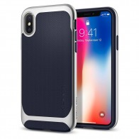 Spigen Neo Hybrid iPhone X Artic Blue/Silver - 1