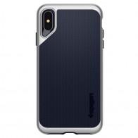 Spigen Neo Hybrid iPhone XS Max Hoesje Satin SIlver 01