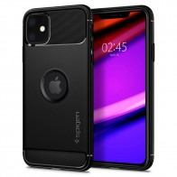 Spigen Rugged Armor iPhone 11 Hoesje Zwart - 1