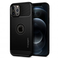 Spigen - Rugged Armor iPhone 12 / iPhone 12 Pro 6.1 inch zwart 01