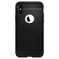 Spigen Rugged Armor Hoesje iPhone XS Max Zwart 01
