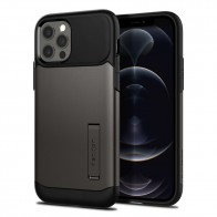 Spigen Slim Armor Case iPhone 12 / 12 Pro Gunmetal - 1