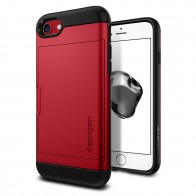 Spigen Slim Armor CS iPhone 8/7 Hoesje Rood - 1
