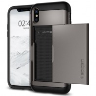 Spigen - Slim Armor CS iPhone 8 Hoesje GunMetal 01