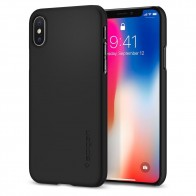 Spigen Thin Fit Case iPhone X Hoesje Mat Zwart - 1