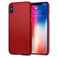 Spigen Thin Fit Case iPhone X Hoesje Rood - 1
