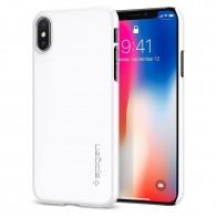 Spigen Thin Fit Case iPhone X Hoesje Wit - 1