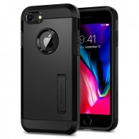 Spigen Tough Armor 2 iPhone 8/7 Hoesje Zwart - 1