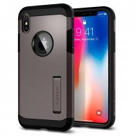 Spigen Tough Armor Case iPhone X/Xs Hoesje Gunmetal - 1