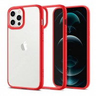 Spigen Ultra Hybrid Case iPhone 12 / 12 Pro Rood - 1