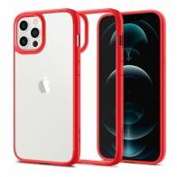 Spigen Ultra Hybrid Case iPhone 12 Pro Max Rood - 1