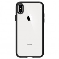 Spigen Ultra Hybrid iPhone XS Max Hoesje zwart / transparant 01