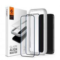 Spigen EZ Fit Glas.tR Protector 2-Pack iPhone 12 Pro Max 6.7 inch 01
