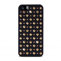 Puro Studs Backcover iPhone 5/5S Black - 1
